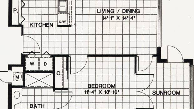 Floor Plans One Bedroom Apartment Include