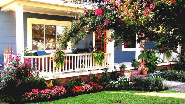 Flower Bed Designs Front House Inspiration