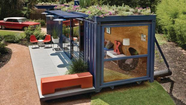 Following Cargo Container House Built Using Additional