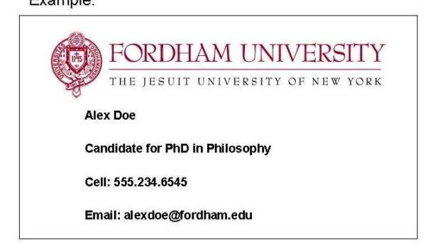 Fordham Gsas Grad Life Business Cards Available