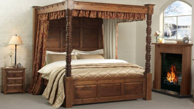 Four Post Bed Frame Canopy Bath