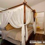 Four Poster Bed Canopy Romantic Bedroom Curtains