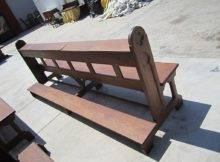 French Antique Gothic Church Prayer Benches Pews Furniture