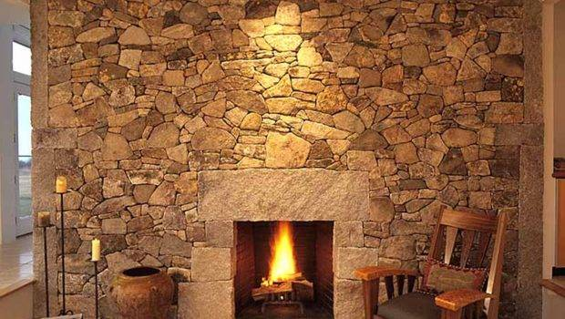 Fresh Stack Stone Fireplace Dry Ideas