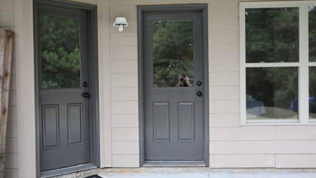 Front Door Color Charcoal Gray Wins Paint Colors Pinterest