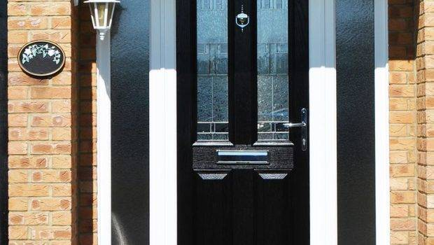 Front Doors Inspirations Composite Black Door