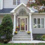 Front Entrance Design Gray Wall Ideas