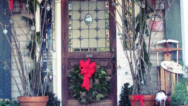 Front Porch Love These Pots Branches Great Decorations