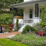 Front Yard White Walls Landscaping Ideas Budget