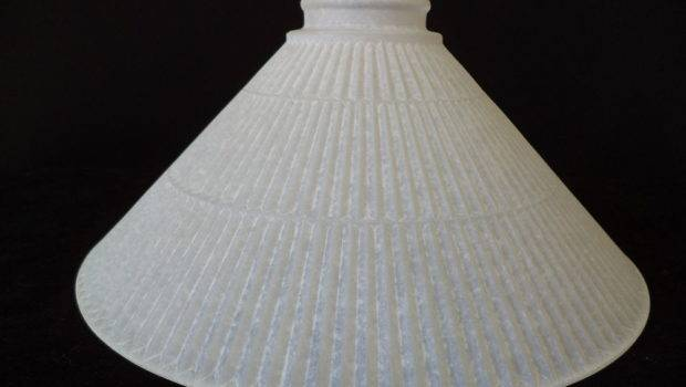 Frosted Pressed Glass Pool Table Light Lamp Shade Bar Shades Ebay