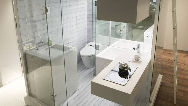 Functional Compact Bathroom Solution Small Apartment