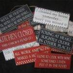 Funny Signs Wooden Sign Red Black White Home Decor Gift Shabby Chic