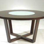 Furniplanet Buy Dark Walnut Glass Top Wooden Dining Cafe Table