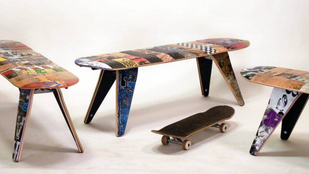 Furniture Company Turns Skateboards Into Stools