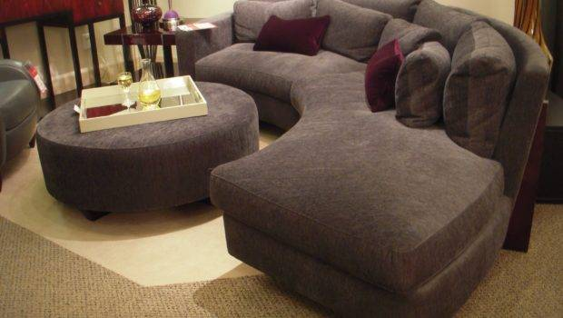 Furniture Grey Fabric Sectional Couch Design Round