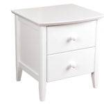 Furniture Off White Lacquer Bedside Table Drawers Small