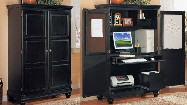 Furniture Office Armoire Black Computer