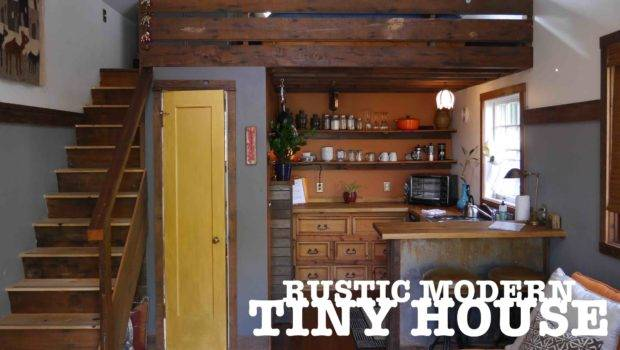Garage Turned Into Tiny House Rustic Modern Portland