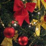 Garden Christmas Decorating Ideas Green Red Gold