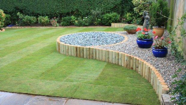 Gardens Landscaping West Sussex Simple Design Rear Garden