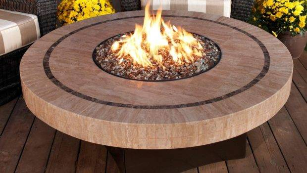 Gas Fire Pit Table Designed Btus All
