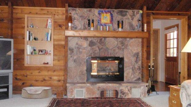 Gas Fireplace Stone Face Home Design