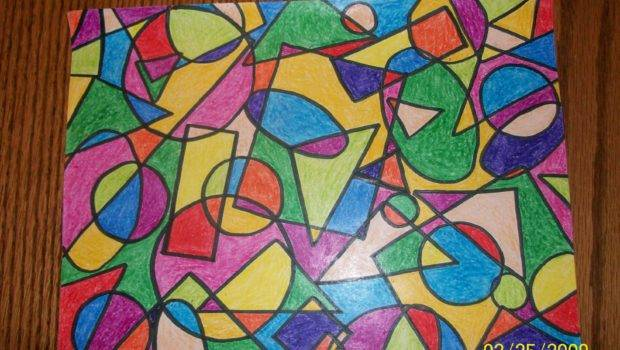 Geometric Shape Which Making Colorful Design Using