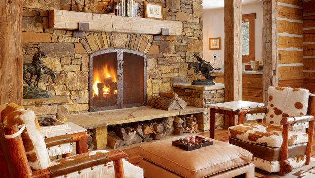 Get Cozy Rustic Lodge Style Living Room Makeover