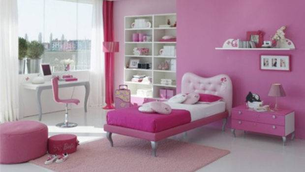 Girls Room Inspiration One Total Fancy Modern Pink