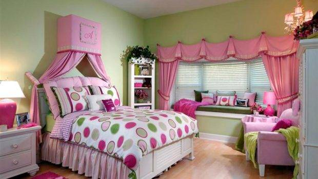 Girls Rooms Interior Design Stylish Pink Teen