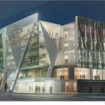 Glass Building Facade Displaying