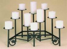Glass Candelabras Fireplace Candle Holder Insert Hearth Candelabra