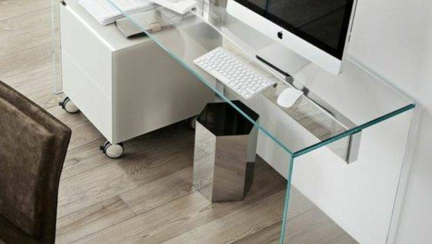Glass Desk Most Beautiful Accessory Your