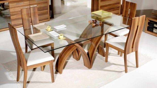 Glass Dining Table Contemporary Rectangle Oval Amp Round Throughout