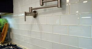 Glass Subway Tile Kitchen Modern Backsplash