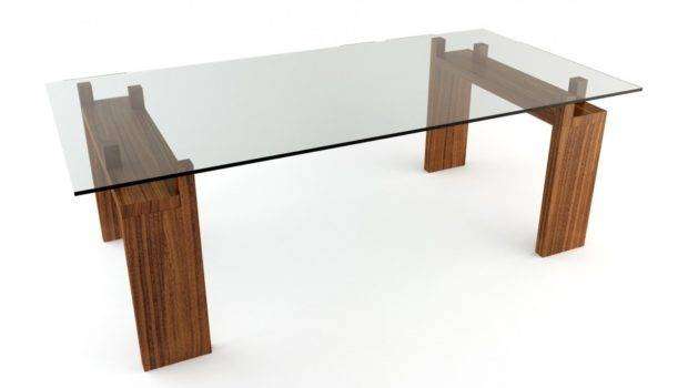 Glass Top Dining Tables Wood Base Ideas