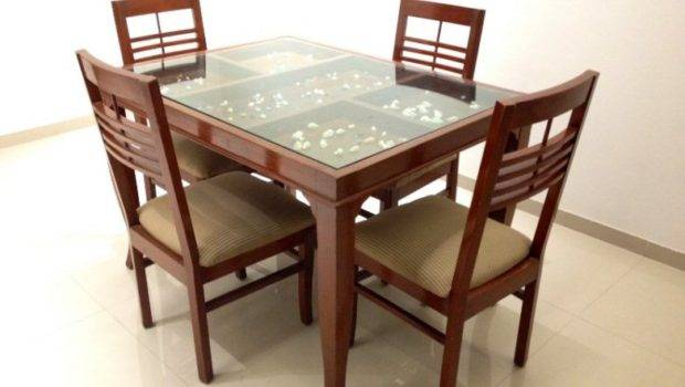 Glass Top Dining Tables Wood Base