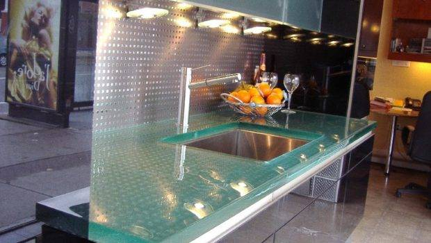 Glass Tops Cool Unusual Kitchen Designs Thinkglass