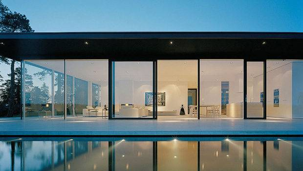 Glass Walls Stunning Lake House Sweden