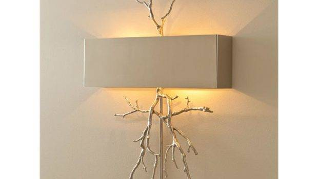 Global Views Lamps Lighting Twig Electrified Wall Sconce Nickel