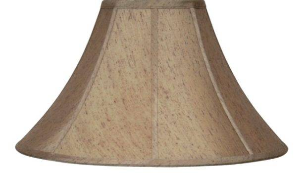 Gold Brown Flecks Bell Silk Swing Arm Lamp Shade Soft Luxury Lining