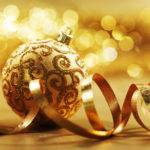 Gold Christmas Ball Wallpaperup