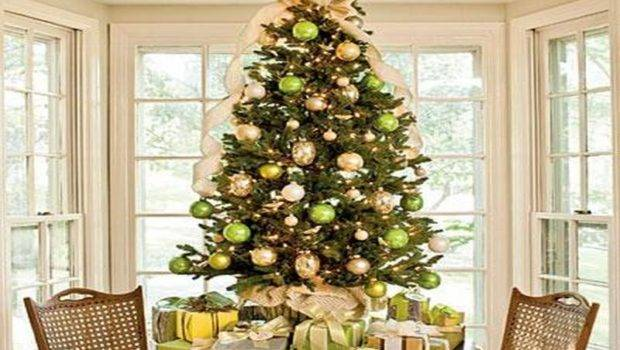 Gold Christmas Tree Decorations Green
