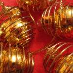Gold Shiny Wire Cage Decorations Hang Decorate Christmas