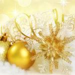 Golden Christmas Ornaments