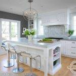 Gorgeous Kitchen Charcoal Gray Paint Color Glossy White Trim