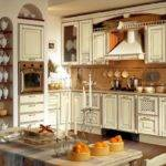 Gorgeous White Cabinets Rustic Italian Kitchen Decorating Ideas