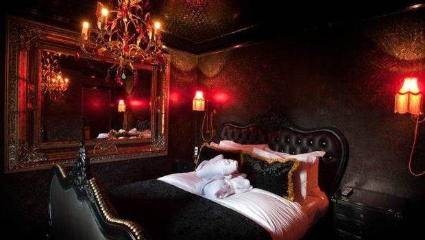 Goth Room Black Bedrooms Red Gothic Guest