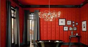 Gothic Living Room Interior Decor Red Black