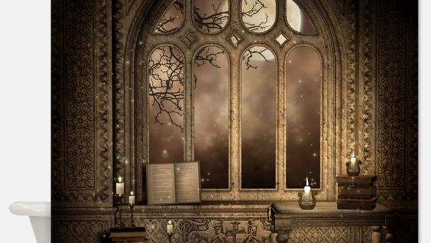 Gothic Shower Curtains Fabric Curtain Liner